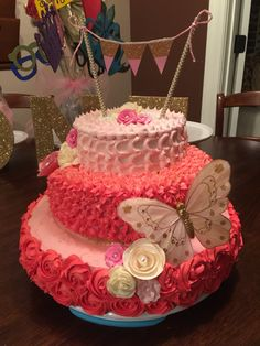 Cake First birthday Shower Wedding Diy Pink and green Have