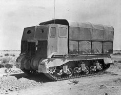 "British deception of German - M3 Grant tank as a ""truck"""