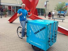 Lots of book bikes, but this one's a hot spot too! DPL Denver Public Library Introduces DPL Connect, A Mobile Library and Hotspot That Uses Pedal Power Little Free Libraries, Free Library, Library Card, Library Books, Library Ideas, Mobile Library, Shandy, Popular Books, Inspirational Books