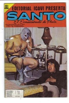 Santo El Enmascarado de Plata la Fotonovela Comic Covers, Comic Books, Comics, Monsters, Art, Art Background, Kunst, Cartoons, Cartoons