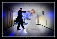 Sarah & Chris dancing the night away in the lake level Boathouse Suite in Walton Hall
