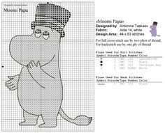 Bilderesultat for moomin cross stitch pattern Cross Stitching, Cross Stitch Embroidery, Cross Stitch Patterns, Knitting Charts, Knitting Patterns Free, Beading Patterns, Embroidery Patterns, Les Moomins, Tove Jansson