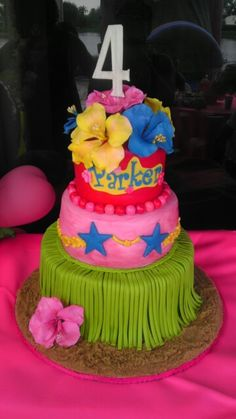 Luau Cake by ButterCreamery
