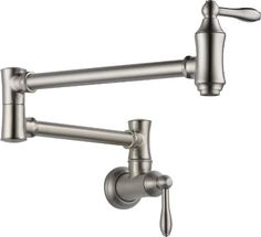 Delta 1177LF-SS Pot Filler Faucet - Wall Mount, Stainless DELTA FAUCET,http://www.amazon.com/dp/B004Y4O2LQ/ref=cm_sw_r_pi_dp_1AS1sb0820H4N0AM