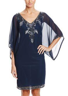 On ideel: J KARA Beaded Blouson Cocktail Dress
