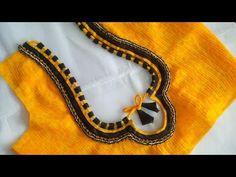 very beautyful blouse back neck desigen cutting and stitching - YouTube