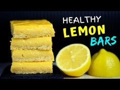 Easy Healthy Lemon Bars Today I'm going to show you how to make lemon bars with oatmeal crust. These light and creamy lemon bars are healthy treat you can't . Lemon Bars Healthy, Healthy Baking, Healthy Desserts, Delicious Desserts, Healthy Recipes, Lemon Dessert Recipes, Lemon Recipes, Sweet Recipes, Oatmeal Banana Bread