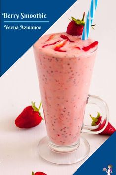 This berry smoothie is a delicious blend of berries mixed with creamy yogurt and chia seeds. It gives your day a perfect pickup, be it for breakfast, mid-day snack, or a healthy dessert. #berrysmoothie #cherrysmoothie #mixedberrysmoothie #smoothie #breakfastsmoothie #smoothierecipes Mixed Berry Smoothie, Cherry Smoothie, Smoothie Bowl, Pumpkin Cake Recipes, Cookie Recipes, Milk Recipes, Jam Recipes, Healthy Recipes, Shortcrust Pastry