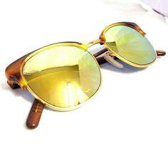 LOZZA golden sunglasses men women vintage eyewear NEW 80s 90s