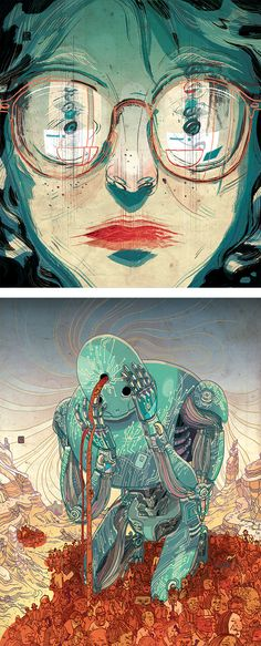 by Victo Ngai Inspiration Grid is a dailyupdated gallery celebrating creative talent from around the world Get your daily fix of design art illustration typography photog. Bd Comics, Illustrations And Posters, Les Oeuvres, Art Inspo, Art Reference, Illustrators, Cool Art, Concept Art, Illustration Art