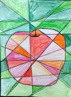 Cubist Inspired Apple Study