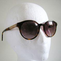 3182016c1cb83 Diesel DL0186 Round Sunglasses 56F Havana Frame Brown Lens NO CASE  Diesel   Round