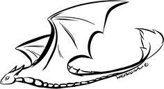 Dragon flight line art by *WolfOfTheWinterMoon on deviantART