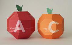 Vitamin Packaging by Lisa Park, via Behance
