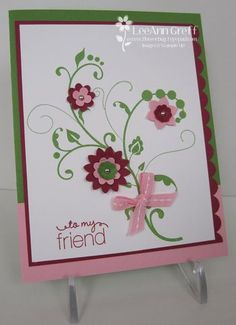 Boho Blossoms punch and Itty Bitty Shapes punch pack make great little flowers to go with this stamp set.