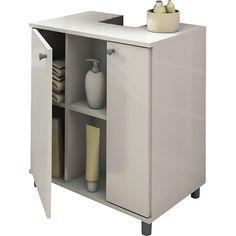 Gabinete para Banheiro 2 Portas Branco - Politorno