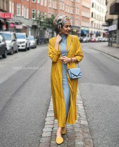 Trendy Turban Hijab Fashion with Kimono for Hijabie Girls – Girls Hijab Style & Hijab Fashion Ideas Modern Hijab Fashion, Street Hijab Fashion, Islamic Fashion, Muslim Fashion, Modest Fashion, Hijab Fashion Summer, Modest Dresses, Modest Outfits, Girl Outfits