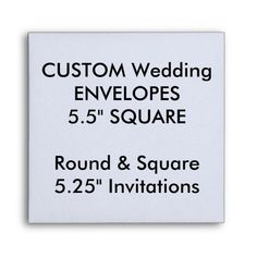 "Custom Envelopes 5.25"" Square Invitations Design Your Own Invitations, Square Envelopes, Wedding Invitation Envelopes, Invite, Wedding Store, Custom Printed Envelopes, Wedding Card Design, Wedding Cards, Photo Pattern"