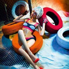 Nika and Kristina K. in Summer Queens by Matúš Tóth for Dolce Vita Magazine Painted Tires, Weird Fashion, Bathing Beauties, Swimsuits, Swimwear, Fashion Shoot, Cool Photos, Interesting Photos, Beachwear