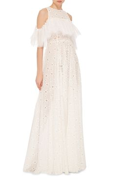 Guipure Lace Long Dress by SANDRA MANSOUR for Preorder on Moda Operandi