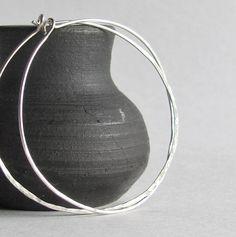 Sterling Silver Hoop Earrings Large Hoop by heartsabustin on Etsy
