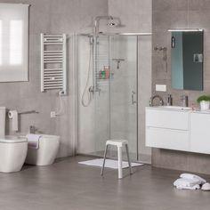 Cuarto de baño amplio en tonos beige - Banium