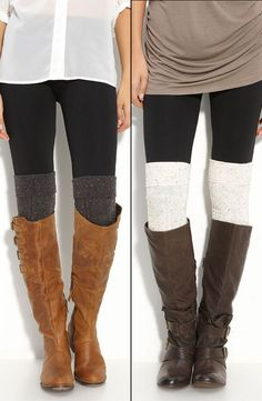 Nordstrom Textured Over the Knee Socks :: Love both socks & ESPECIALLY the boots! | #boots #kneesocks #nordstrom
