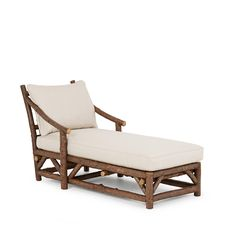 Chaise #1181 shown in Natural Finish (on Bark) La Lune Collection