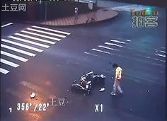 Man survives insane motorcycle crash