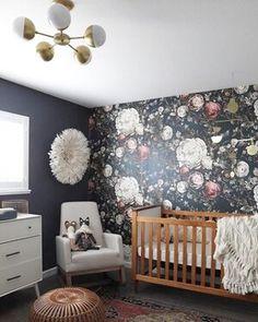 Mara's moody floral nursery reveal Baby Nursery: Easy and Cozy Baby Room Ideas for Girl and Boys