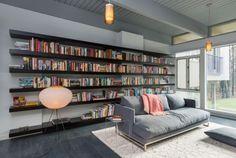 Einrichtungsdeen für Hausbibliothek und Bücherwand-Ruhe-Ort zu Hause