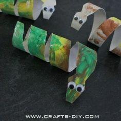 süß & einfach - Schlange aus Papierrolle / Toddler Crafts using Toilet Paper Rolls