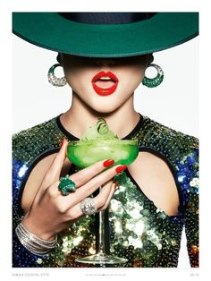 "~""D'ÉTÉ COCKTAIL"" Vogue Paris 