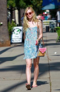 Wearing a sundress out in Hollywood.    - ELLE.com
