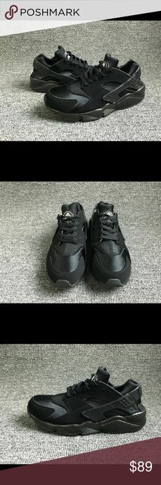Nike Huaraches Triple Black Brand new Nike Huaraches in Triple Black. All of the listed sizes are available for immediate dispatch. We ship orders every day, and if you purchased before 4PM EST we will ship the same day! All orders arrive within 1-3 days!   Product is 100% authentic and was purchased directly from Nike. We will ship the receipt with the shoes upon request.   Please comment with any additional questions! Nike Shoes Sneakers