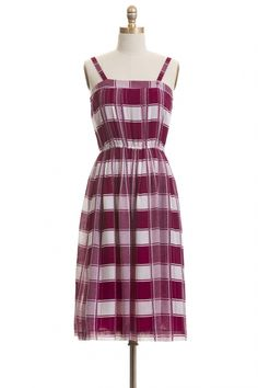Little Italy Vintage Dress | Roni Kantor I can't imagine trying to fit my boobs into this without making a plaid uniboob.... :(