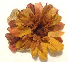 Fall Hair Flower with Burlap *** Click image for more details.