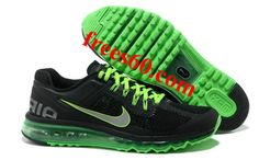 best website 8694a 8d4ba com for nikes OFF - Mens Nike Air Max 2013 Black Green Silver Shoes