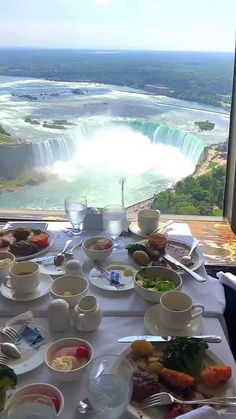 Have breakfast and enjoy beautiful view - Beautiful nature, good food, beautiful waterfalls, fresh air, European travel Beautiful Places To Travel, Cool Places To Visit, Wonderful Places, Places To Go, Beautiful Waterfalls, Beautiful Landscapes, Vacation Places, Dream Vacations, Nature Pictures