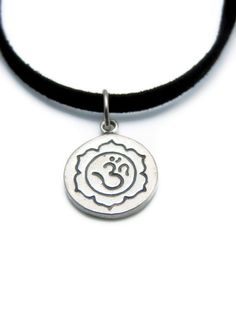 Meaningful jewelry, Inspirational jewelry, Yoga Om jewelry: Om Lotus Sterling Silver Necklace