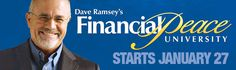 Online registration for Financial Peace University is now available. This nine-week class begins Monday, January 27 and will be held every Monday evening from 7-9 p.m. Visit our website.