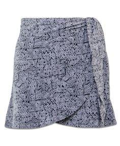 Soul Flower Geo Organic Wrap Mini Skirt
