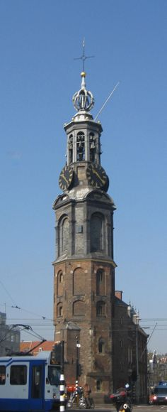 A clock tower in Amsterdam - Photo by Jill Holmeshaw