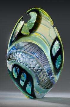Art-glass egg by Glass Artist Jeffrey Pan
