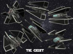 TIE Geist 1/270 3d printed TIE Geist
