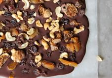 Celebrate National Chocolate Day with this delicious and fruit-filled dark chocolate bark!
