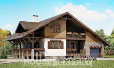 220-005-R Projekt domu dwukondygnacyjnego i garażem,  zwyczajny dom podmiejski z cegieł, Bytom
