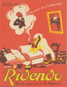Cover of the French magazine Ridendo (Oct. 1937) by Jacques Touchet.