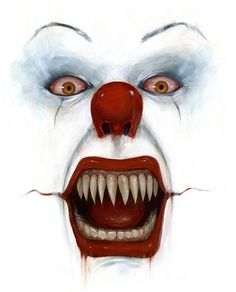 Gruseliger Clown, Creepy Clown, Clown Mask, Scary Movies, Horror Movies, Anime Comics, Clown Pennywise, Horror Icons, Evil Clowns