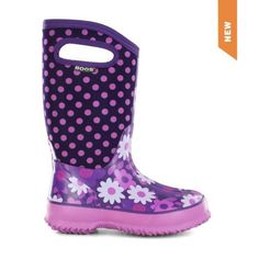 BOGS Flower Dots Classic Kids Insulated Boots
